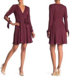 Laundry By Shelli Segal Slit Sleeve Wrap Dress 4
